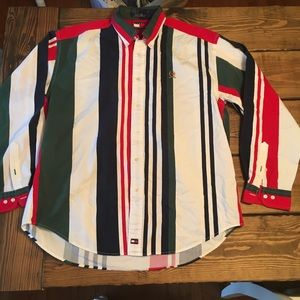 VINTAGE Tommy Hilfiger | color striped button shir
